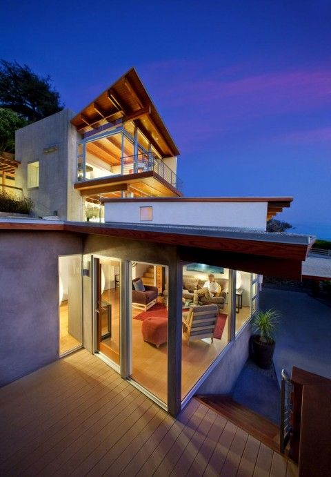 Casa Moderna Madera extraños Pinterest Casas modernas, Fachada - fachada madera