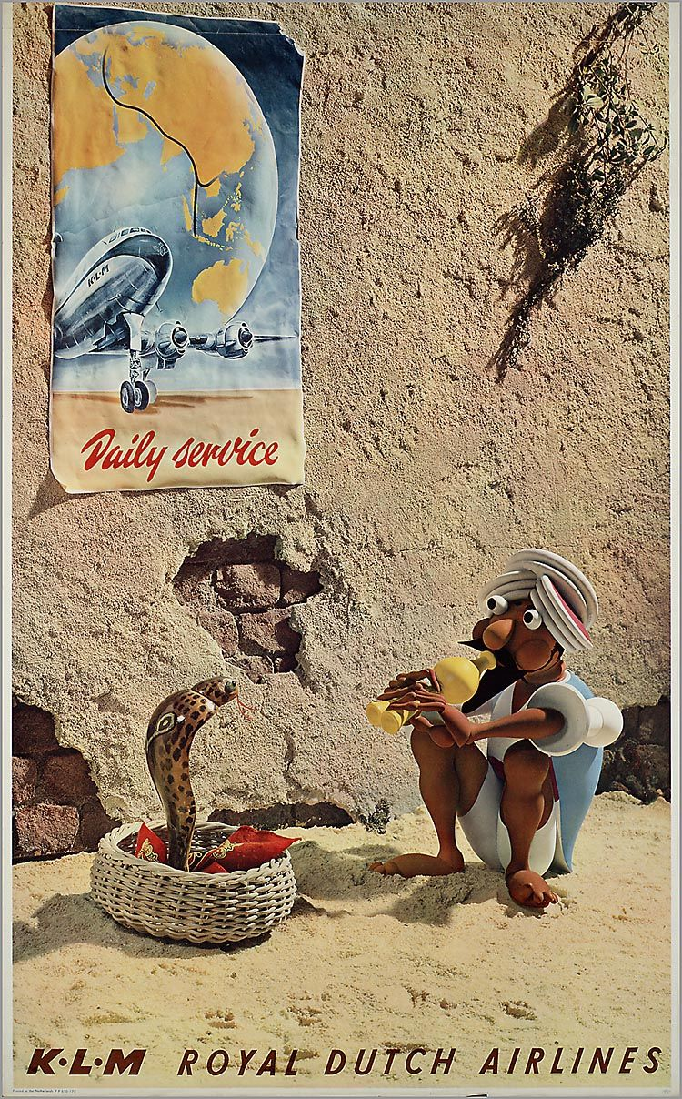 KLM Royal Dutch Airlines Daily Sevice, 19451955 Poster