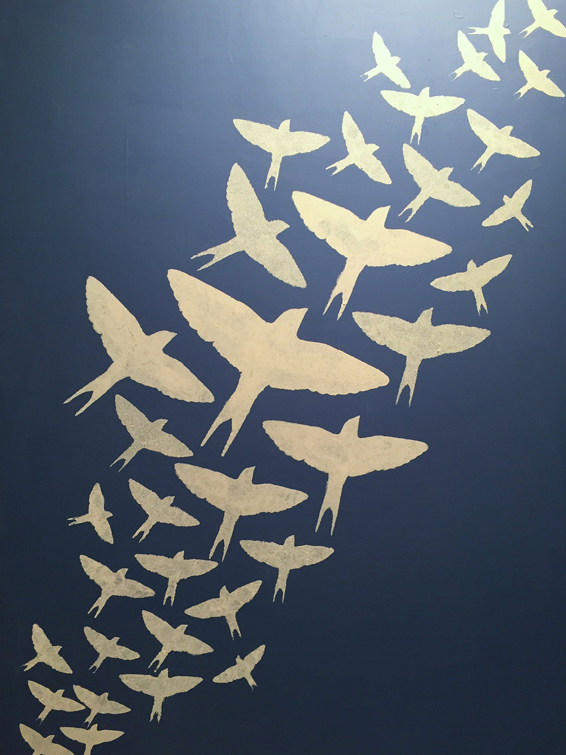 Flying Bird Stencils  Collection Of 6  Sizes Range