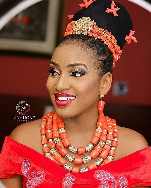 African bridal hat,African coral bead set,Igbo wedding custome,traditional wedding head and neck beads,african wedding accessories
