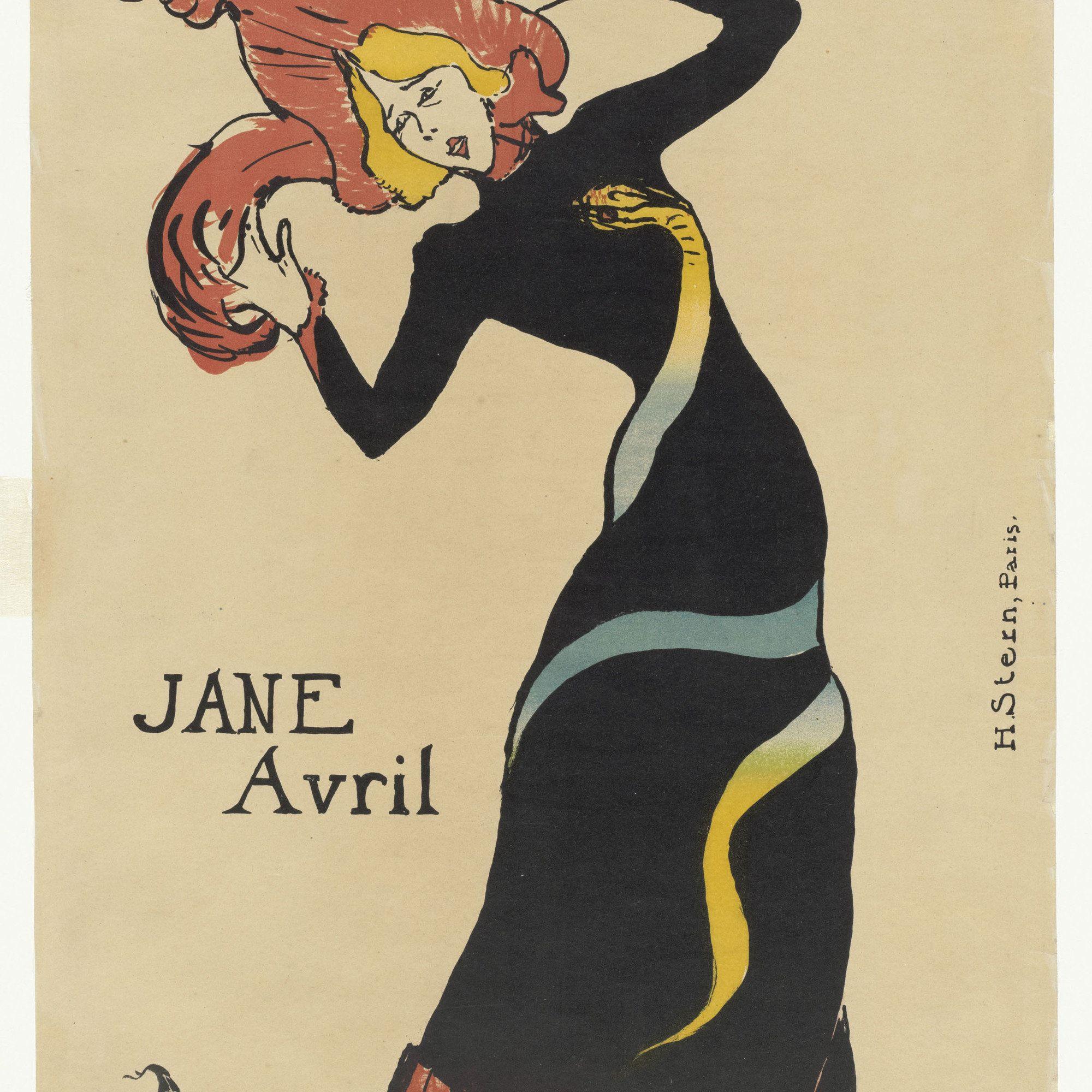 Henri de Toulouse-Lautrec (French, 1864–1901). Jane Avril. 1899 ...