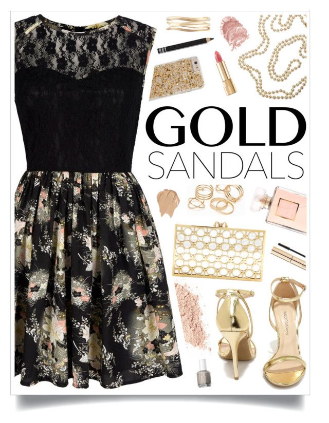 """Micro Trend:  Solid Gold Sandals"" by charcharr ❤ liked on Polyvore featuring Mela Loves London, Wild Diva, JFR, Charlotte Olympia, Essie, Dolce&Gabbana, Cathy Waterman, Lane Bryant and Lord & Berry"