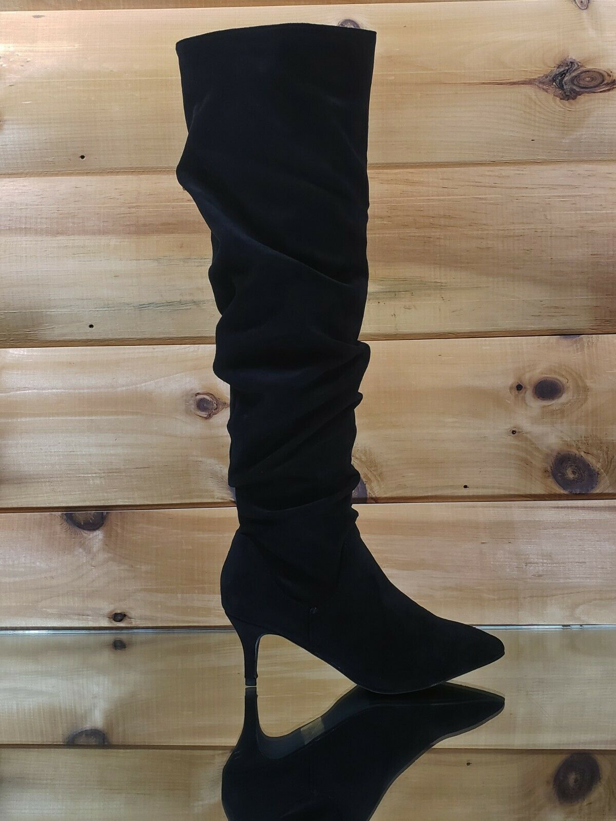 Autumn Pointy Toe 2 Low Kitten Heel Slouchy Knee High Boot 6 5 11 Black Black Boot Ideas Of Black Boot Blackboot Boots Autum In 2020 Black Boots Boots Heels