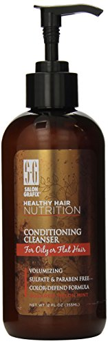 Salon Grafix Healthy Hair Nutrition Conditioning Cleanser for Oily or Flat Hair 12 oz ** Check this awesome product by going to the link at the image.