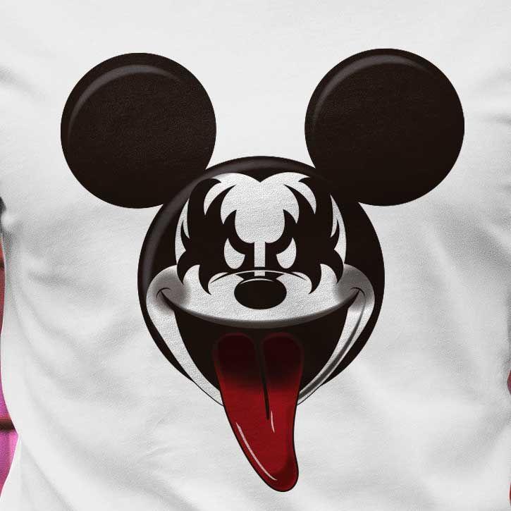 45b102544 Camiseta Mickey Kiss  mickey  kiss  mickeykiss  rockandroll ...
