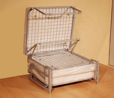 pouf lit pliant lit dappoint avec matelas en mousse polyurthane couchage - Lit Appoint