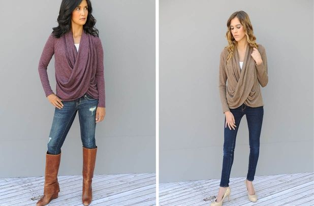Crossbody Cowl Neck Top $22.99 from $50