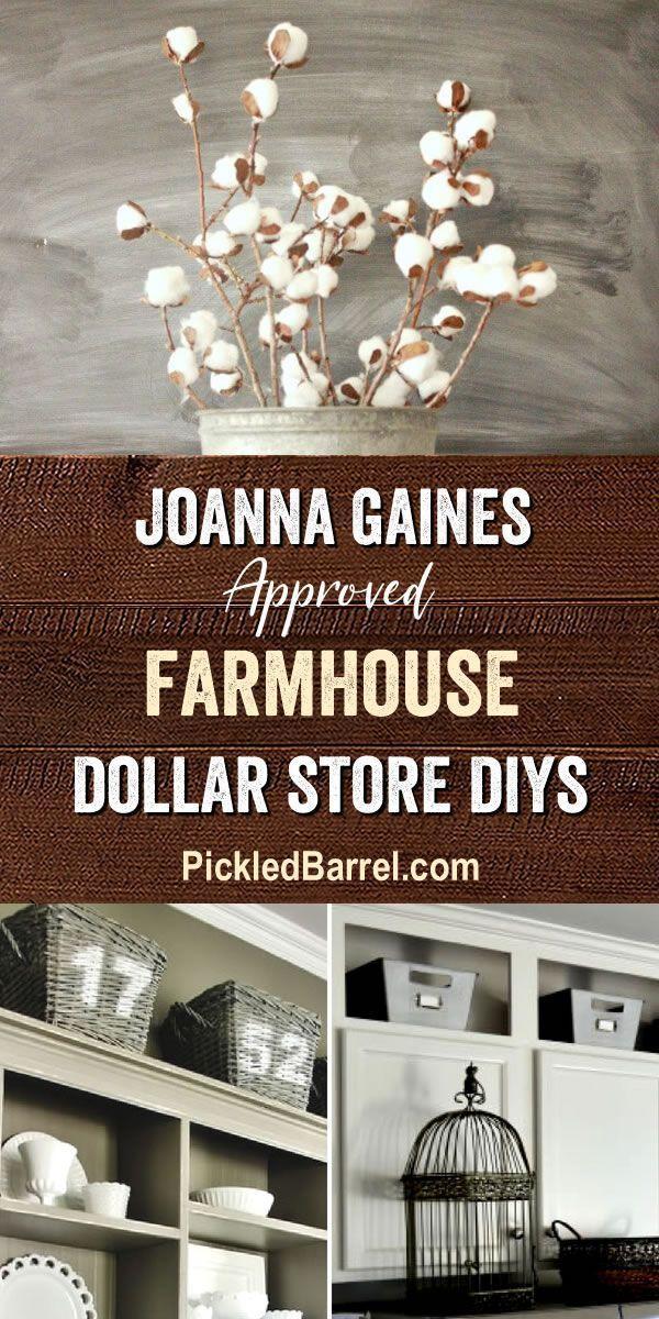 Joanna Gaines Approved Farmhouse Dollar Store DIYS  Fixer Upper Farmhouse Style DIYS from The Dollar Store