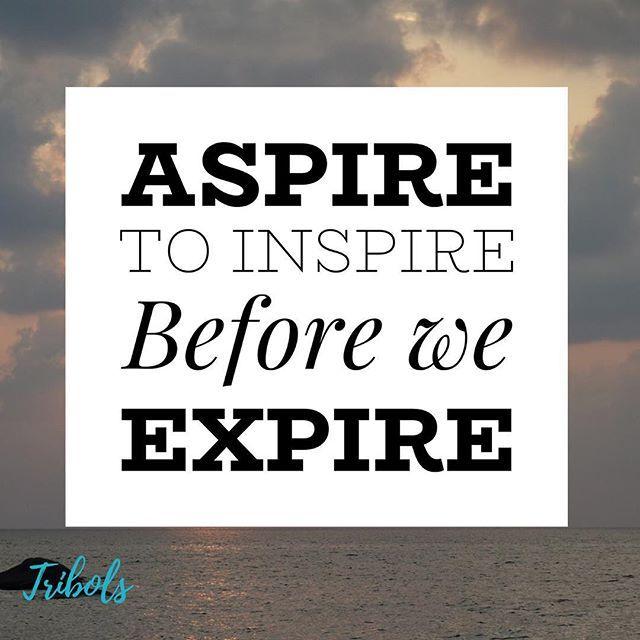 Reposting tribolstools Aspire to inspire before we