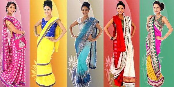 how to wear saree in different ways