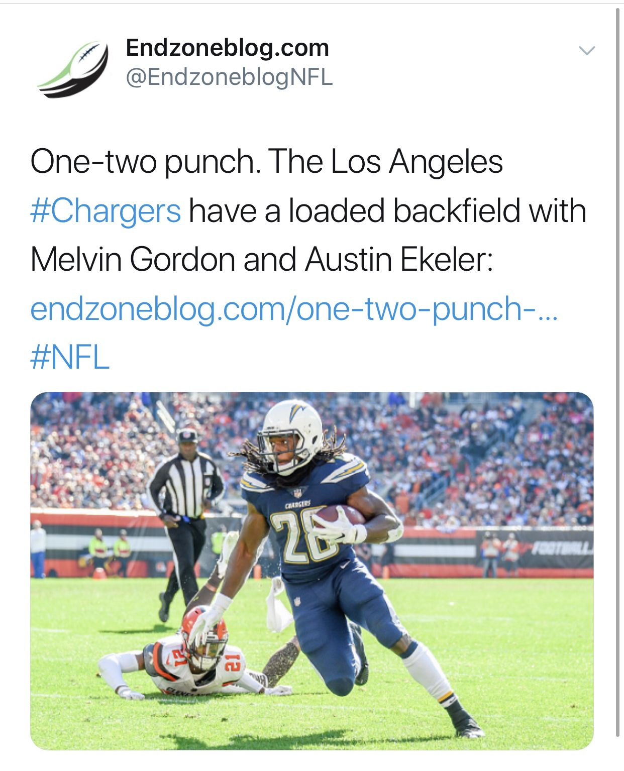 Melvin Gordon And Austin Ekeler Are A Great Duo Football Streaming Live Football Streaming Semi Pro Football