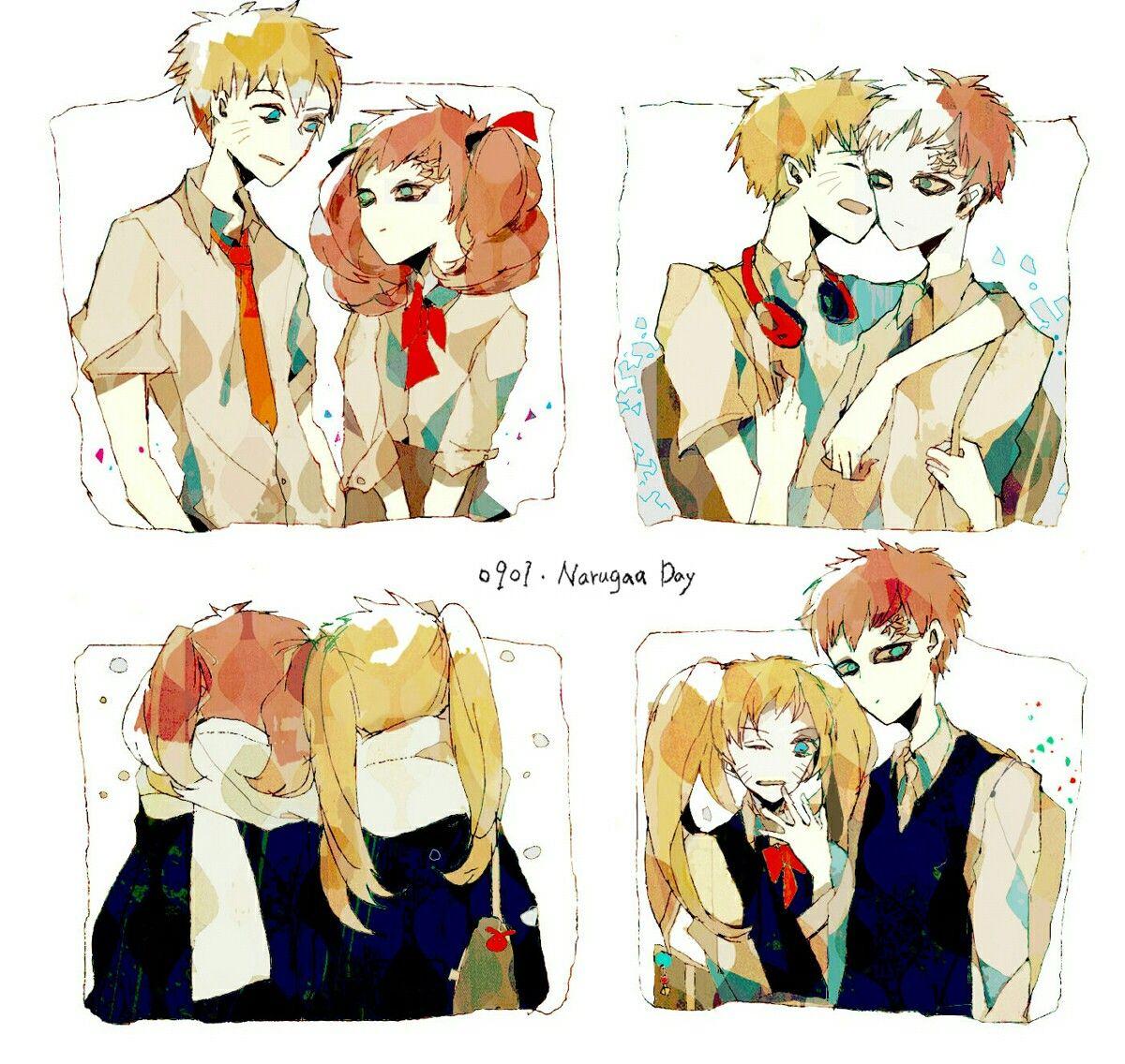 Anime Naruto Shippuden Boruto The Origin Of The Name: Naruto Y Gaara Narugaa