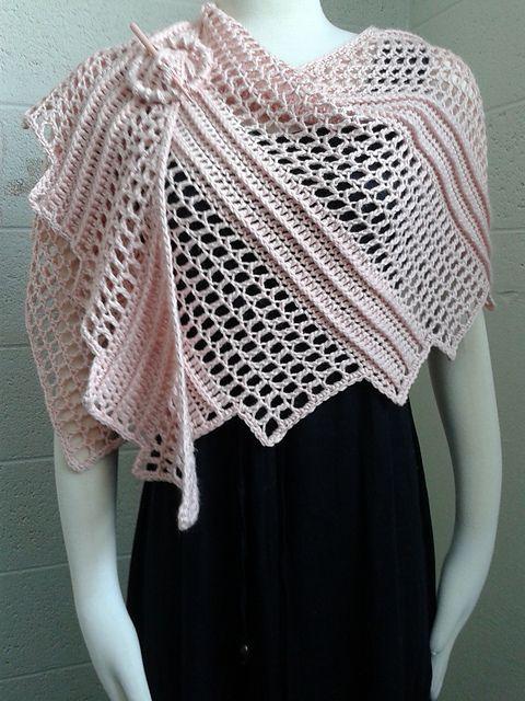 Free Crochet Pattern: Lizard Wrap | Ganchillo Chal | Pinterest ...