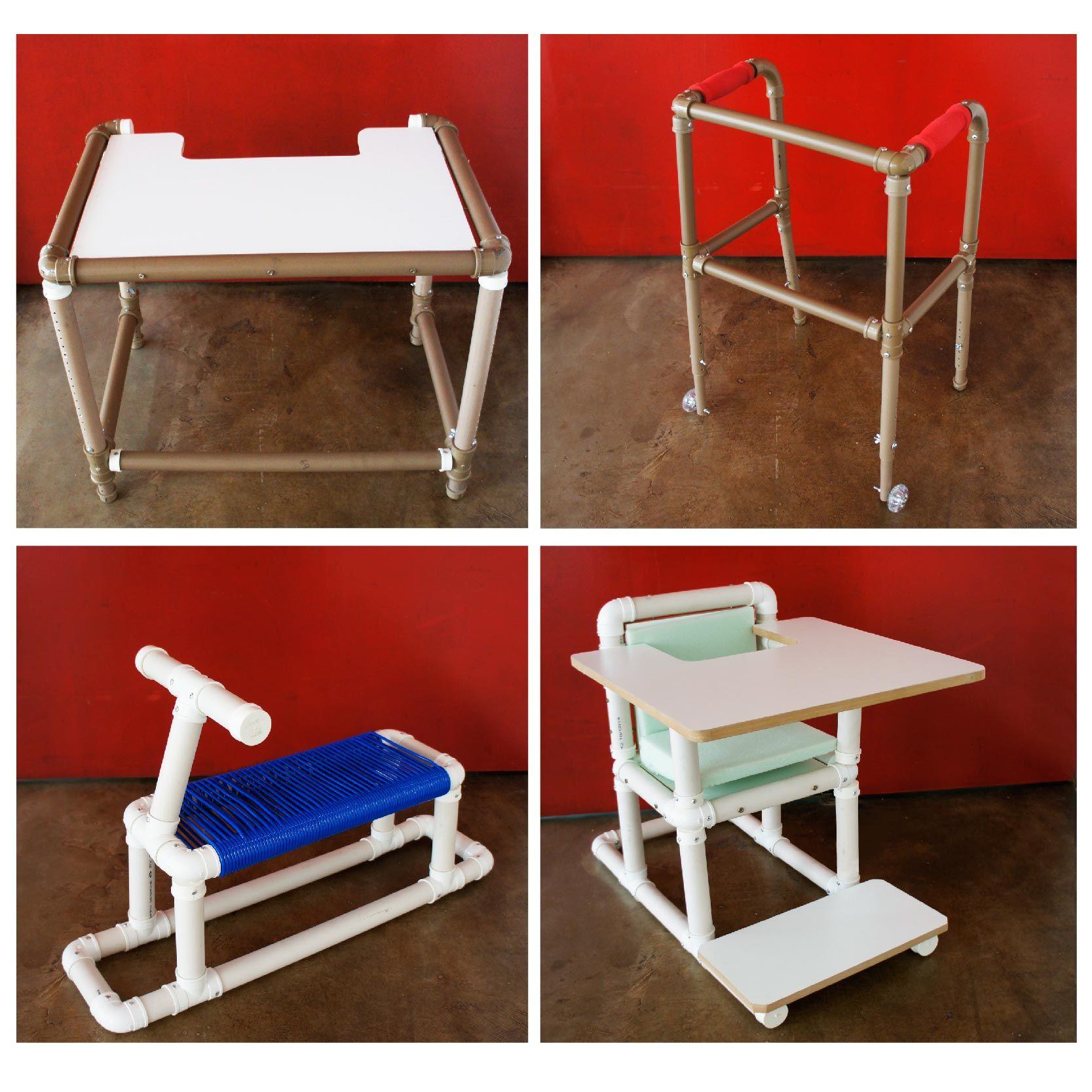 Mobiliarios adaptados en pvc teleton teletonparaguay - Manualidades con muebles ...