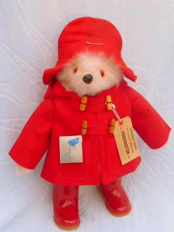 b631a19de09 Rare authentic original gabrielle design paddington bear christmas red! old  toy