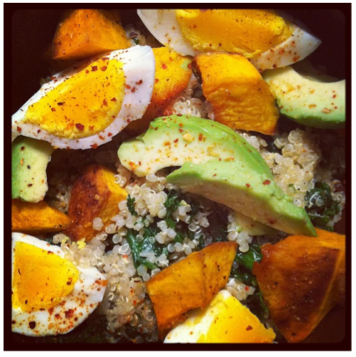 Quinoa egg bowl from Healthy Crush for St. Patrick's Day!