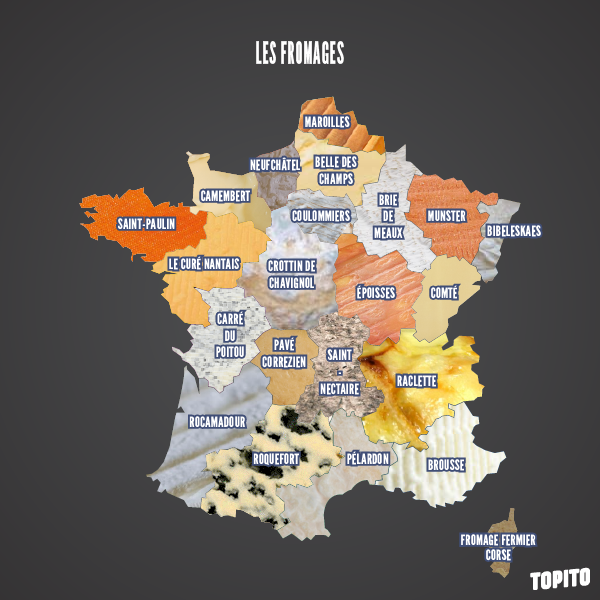 Top 14 des cartes de France vue autrement, c'est vrai que