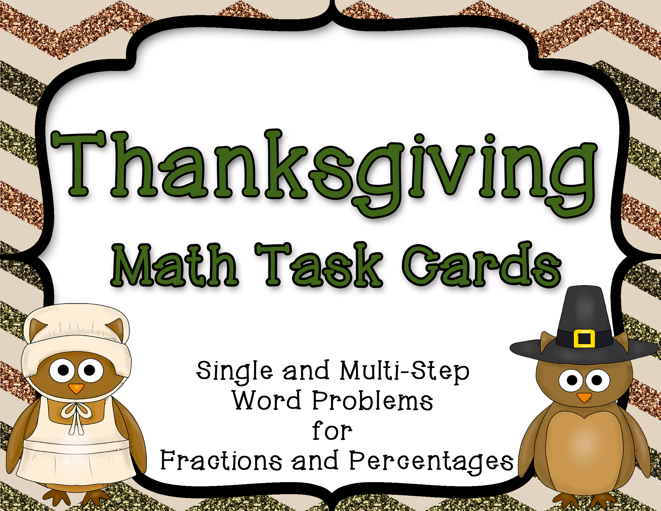These Thanksgiving Themed Fraction And Percent Story
