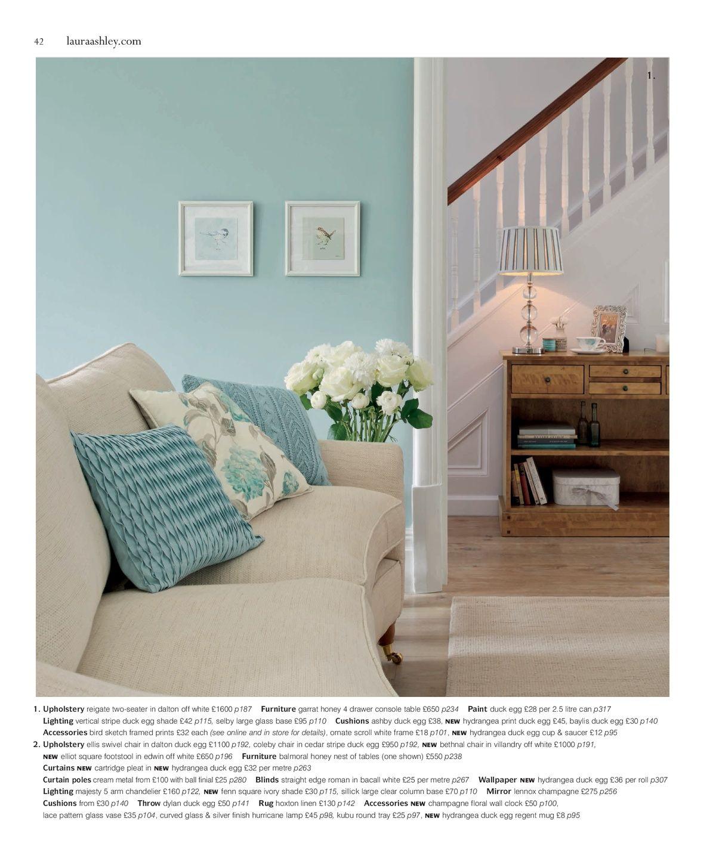 Laura Ashley living room - blue | ローラアシュレイ