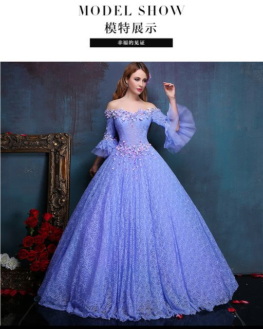 100%real flower embroidery beading light purple lace ball gown medieval  dress princess Renaissance Gown queen Victoria Belle d2b386a71476