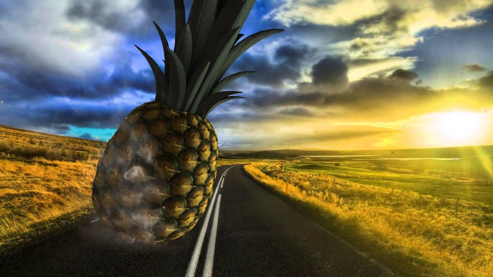 Download full hd pineapple hd wallpaper