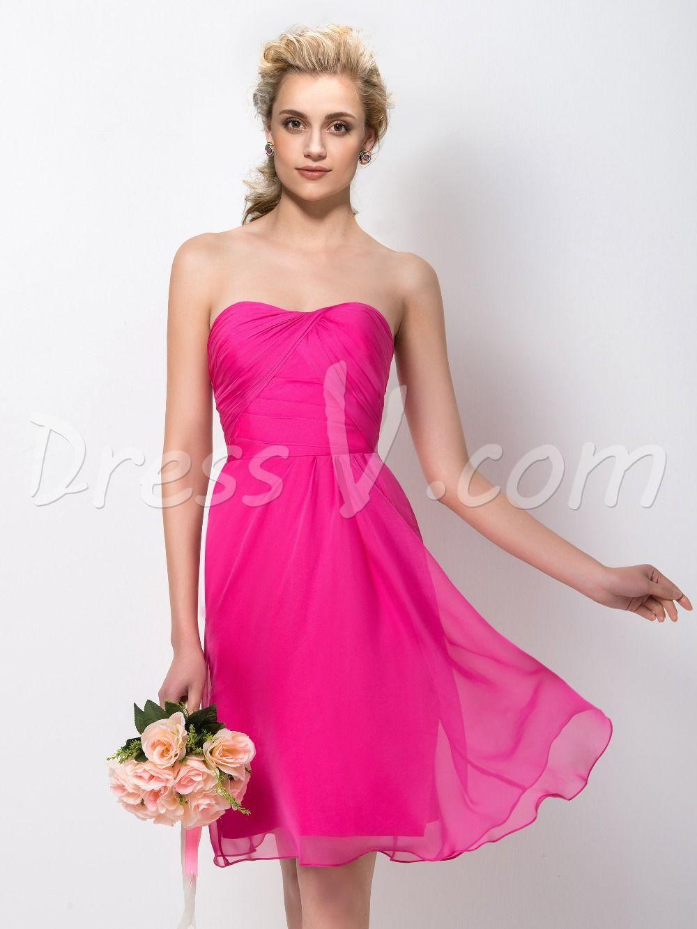 Cheap short bridesmaid dresses 2016 hot pink sweetheart a line cheap short bridesmaid dresses 2016 hot pink sweetheart a line ruched wedding maid of honor ombrellifo Gallery