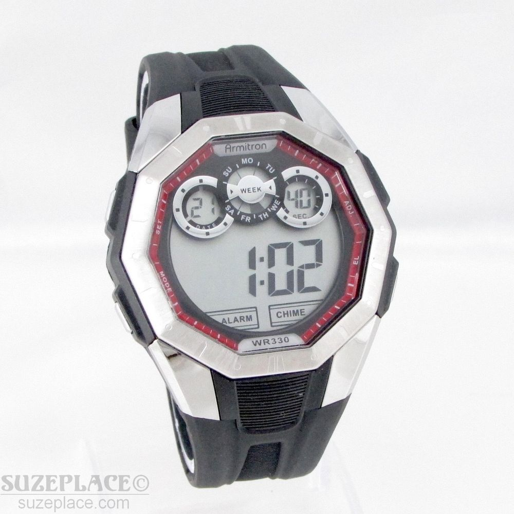 NEW ARMITRON ALL SPORT MENS WATCH WR 330 FT DAY DATE 12/24