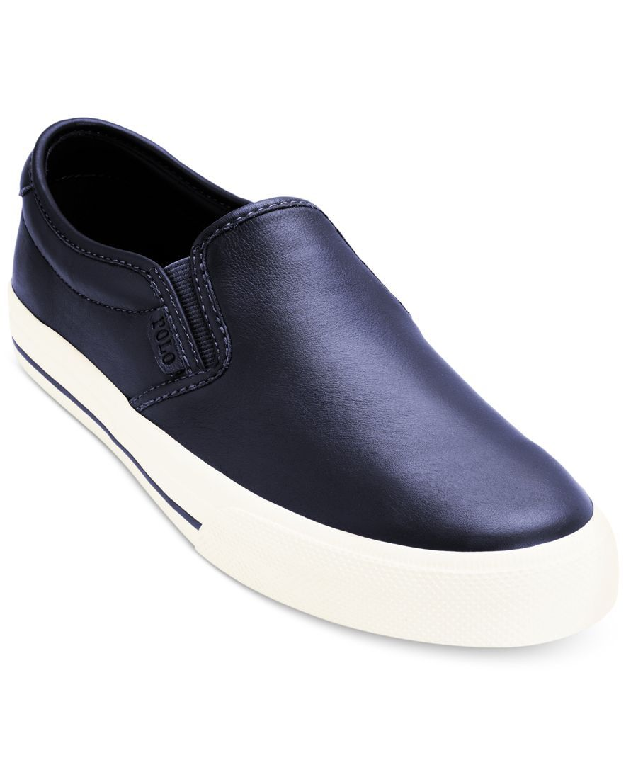 polo vaughn leather sneakers