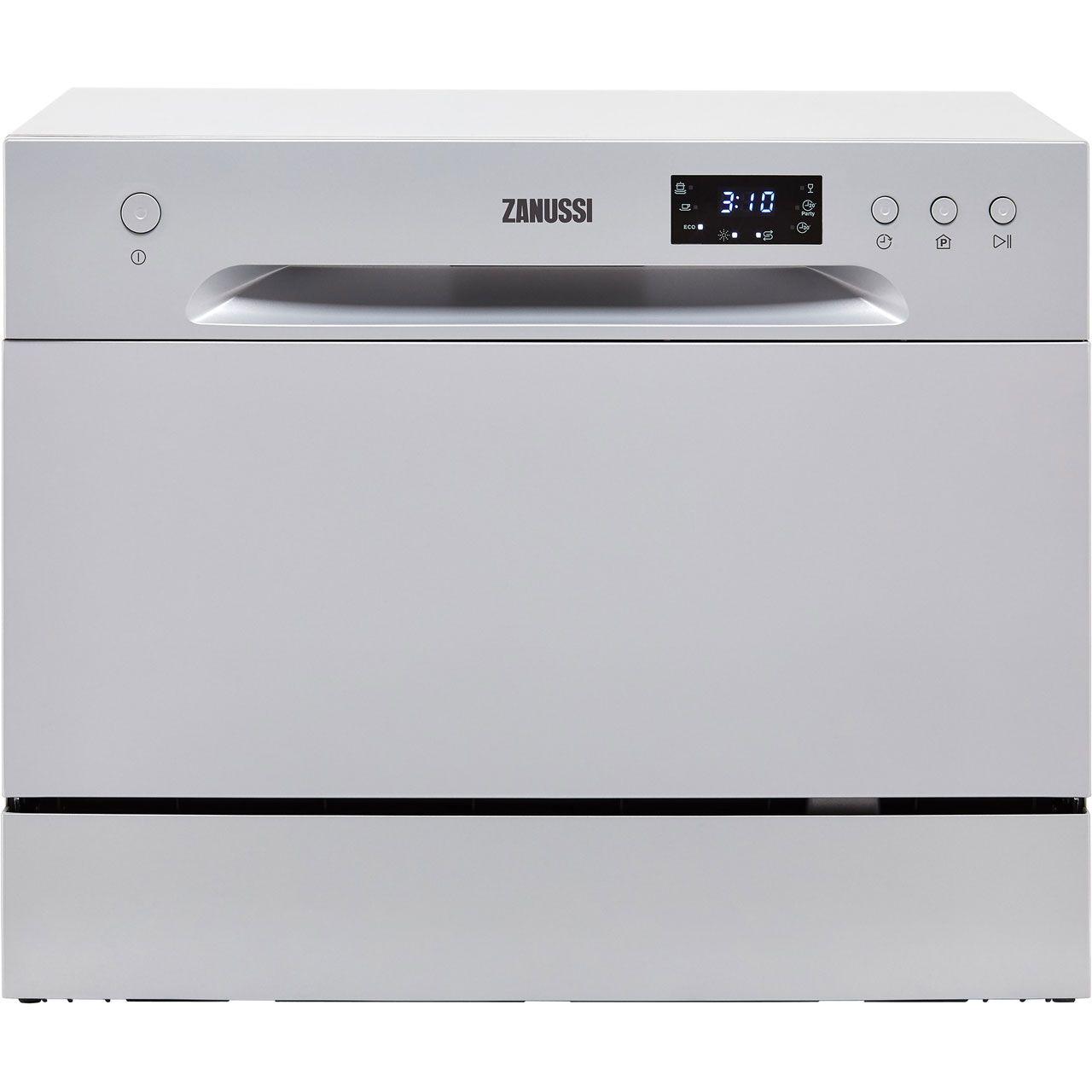 Zanussi Zdm17301sa Table Top Dishwasher Silver A Rated