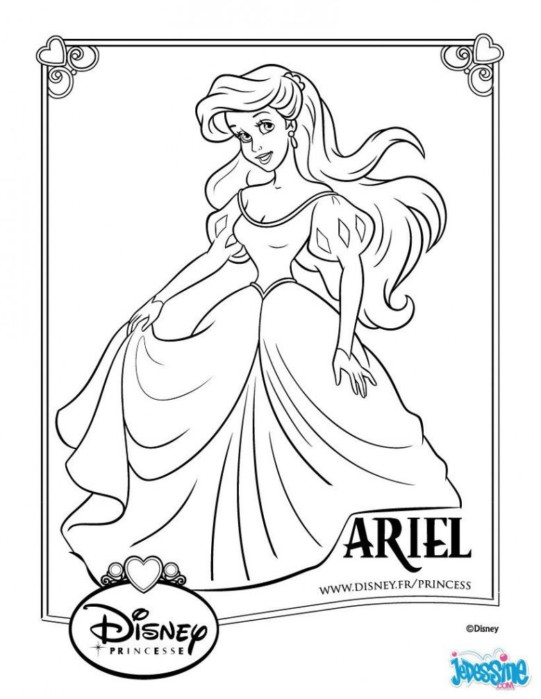 Un Coloriage Sur Le Conte Disney De La Petite Sirene Avec Ici La