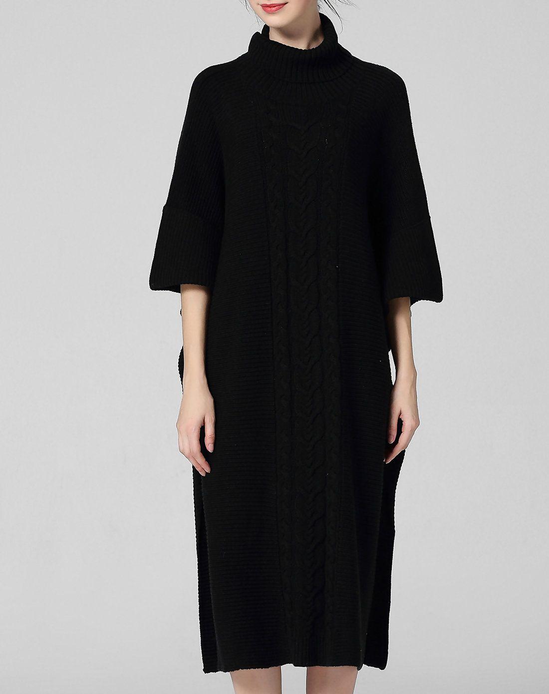 Adorewe vipme sweater dresses wei guo yue black turtleneck half