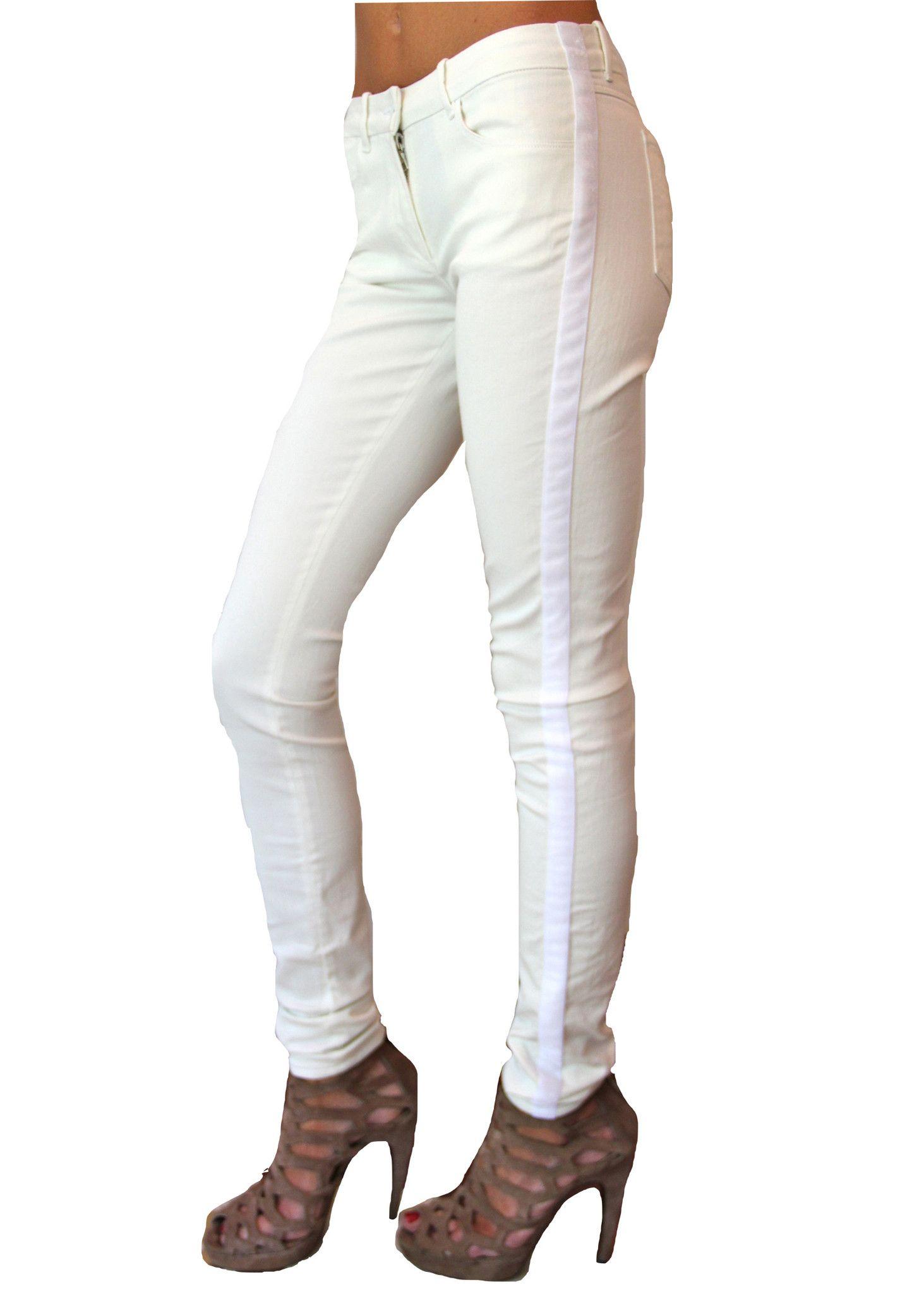3x1 - Low Rise Tuxedo jean with white Tuxedo Strip- Style W1.16.45