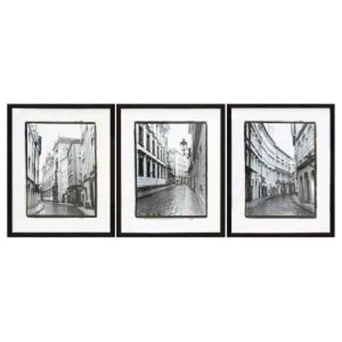 Dorcas - Black/White - Wall Art Set (3/CN) | Wall Art | Pinterest ...