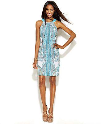 Inc International Concepts Printed Halter Dress Dresses Women