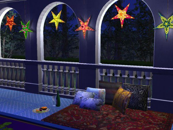 Mod The Sims Festive Paper Star Lamps