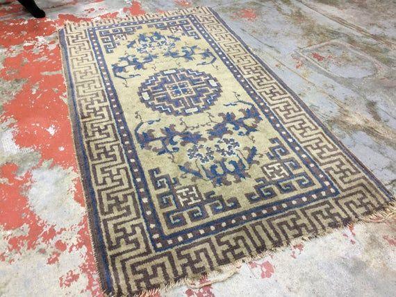 Antique Chinese Rug 2x3 5 Ningxia Rug 19th C Oriental Rug Rugs