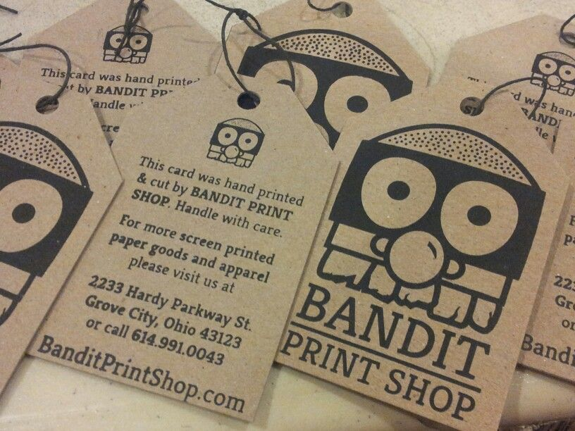 Screen printed business cards in the style of apparel hang tags for screen printed business cards in the style of apparel hang tags for a screen printing company reheart Gallery