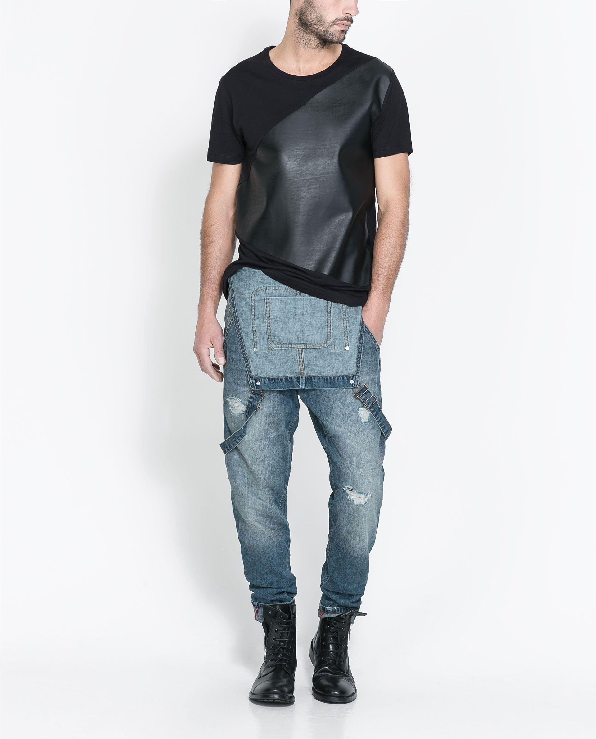 salopette denim jeans homme zara france kibzshera pinterest jeans hommes denim jean. Black Bedroom Furniture Sets. Home Design Ideas