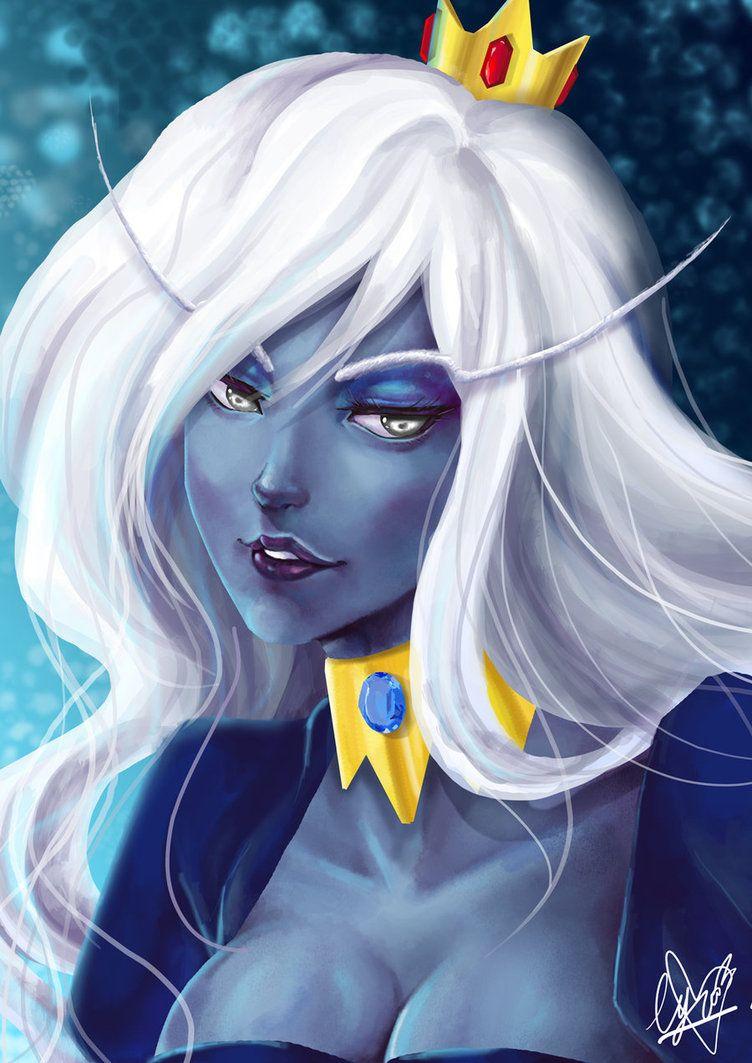 adventure time the ice queen by harunaru on deviantart