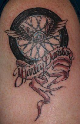 Jeff's Tattoo - Judy's Work | Harley tattoos, Tattoos ...