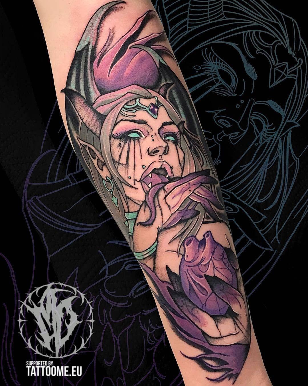 Anime Tattoos 107k On Instagram Succubus By Mattdattardi Follow Animemasterink For More Turn On Notif Zombie Girl Tattoos Tattoos Demon Tattoo