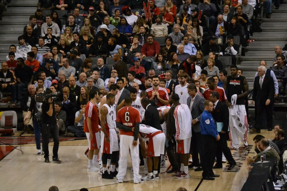 Team timeout at home opener vs Pacers