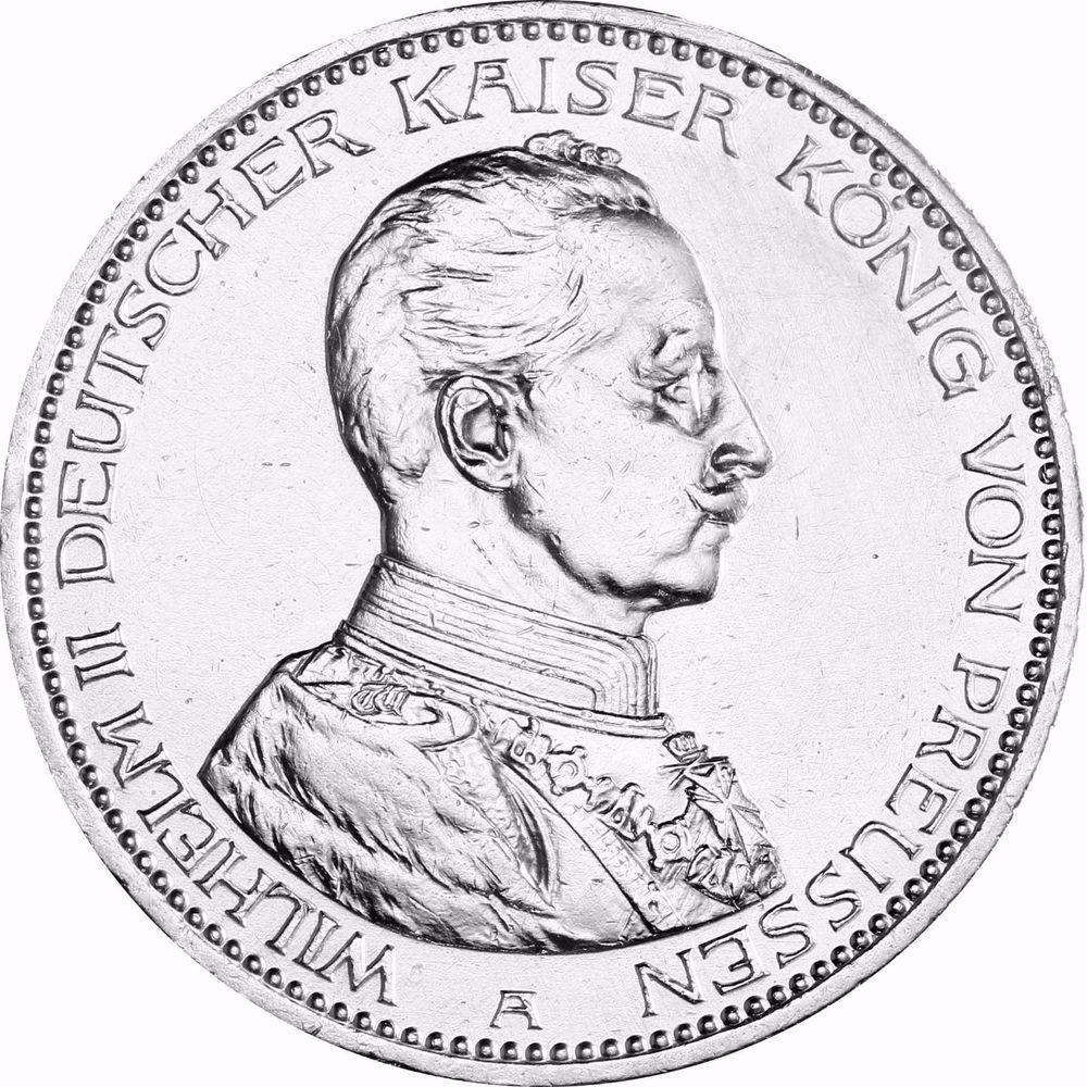 Jager 114 Preussen 5 Mark Silber Wilhelm Ii In Uniform Munze In Munzkapsel Ebay Uniform Wilhelm Ii Marken