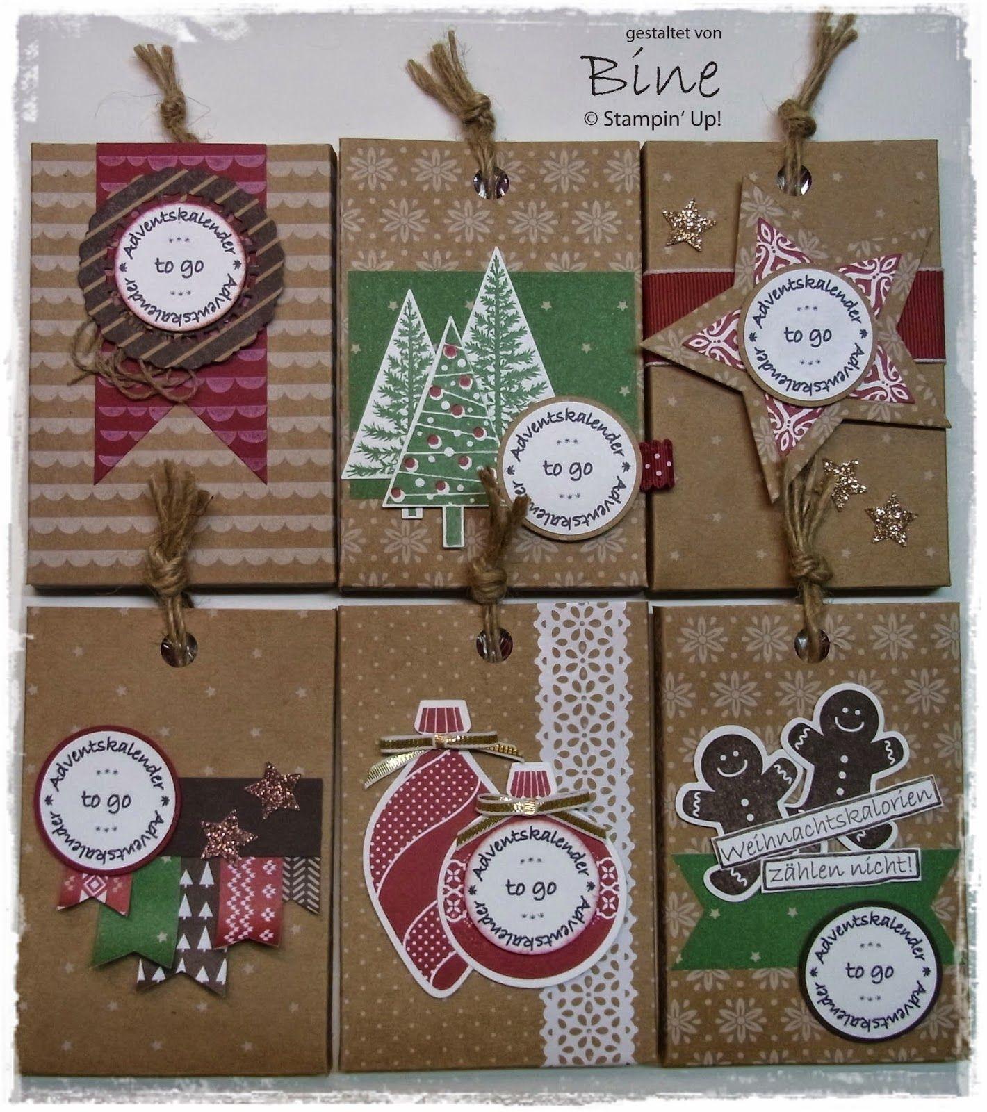 Bines Karten Und Mehr Verpackung F R Adventskalender To Go