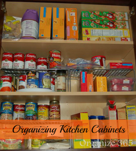 Tips for organizing kitchen cabinets that hold breakfast foods ...