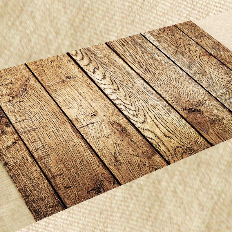 Placemat PVC Set Dining Table Mat Heat Resistant Model Wood Handmade