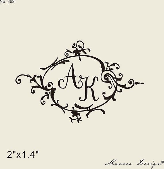 custom wedding rubber stamp 2 x1 4 vintage frame custom