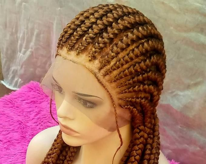 Braided box braids wig. The length in the picture is 22 inches long.pls chose your length and color .