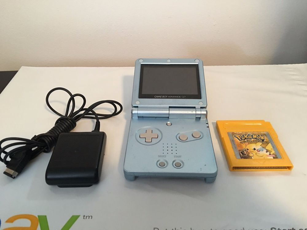 Nintendo Game Boy Advance SP Pearl Blue ASG-101 Backlit +