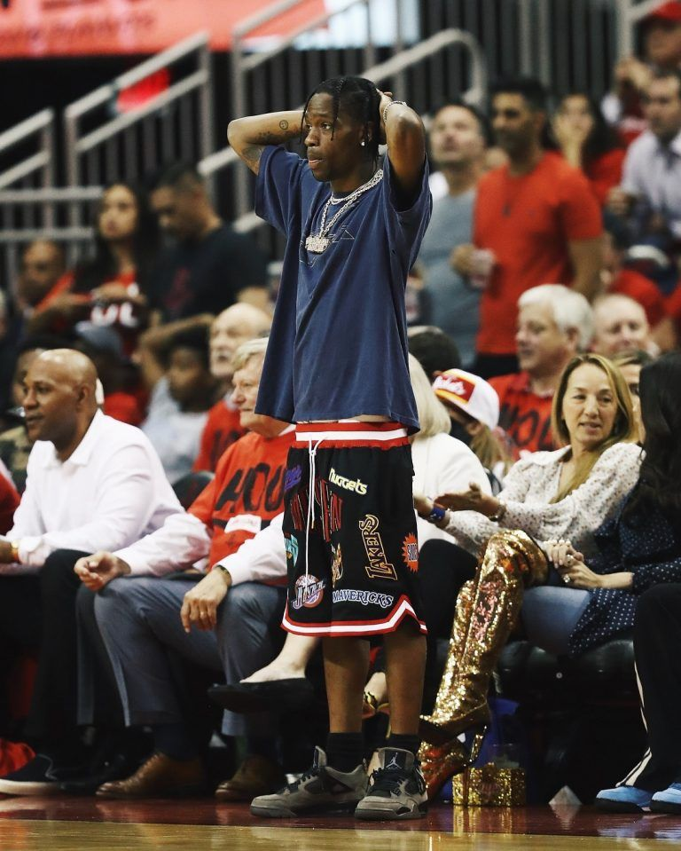 ICYMI  Travis Scott Rocks Just Don Shorts And Travis Scott X Air Jordan 4  Sneakers 1df5e2f81